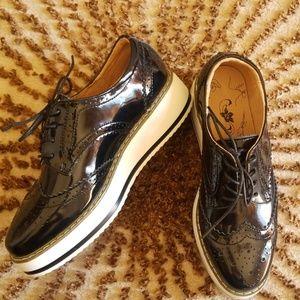Shoes - Platform patent oxfords
